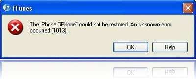 Common iTunes Error -