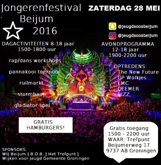 Flyer jongeren festival