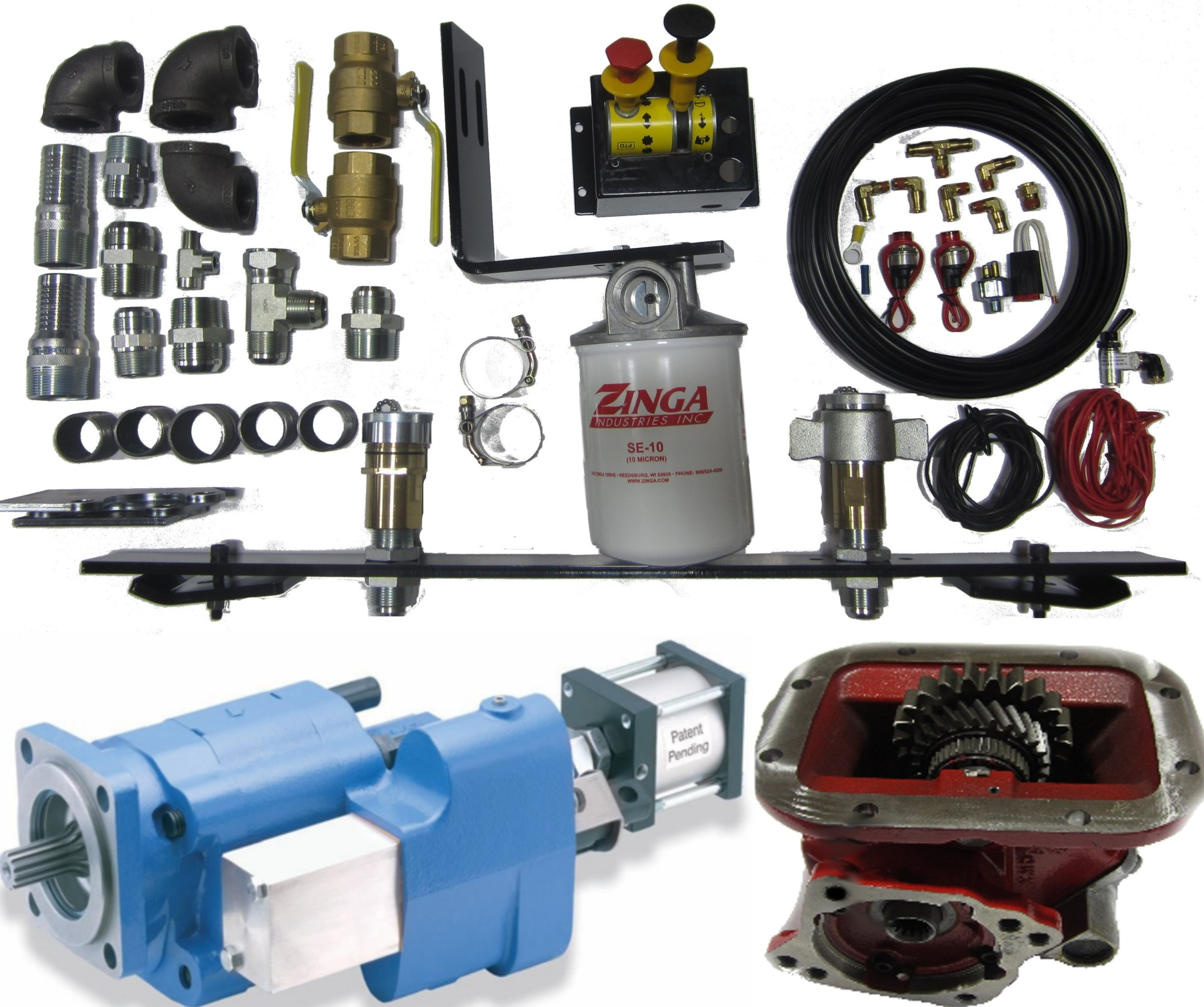 hight resolution of dual system wet kit for dump trailer and walking floor trailer pto included