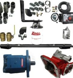 wet kit for lowboy trailer pto included hydraulics pneumatics mix dual line wet kit diagram [ 932 x 896 Pixel ]
