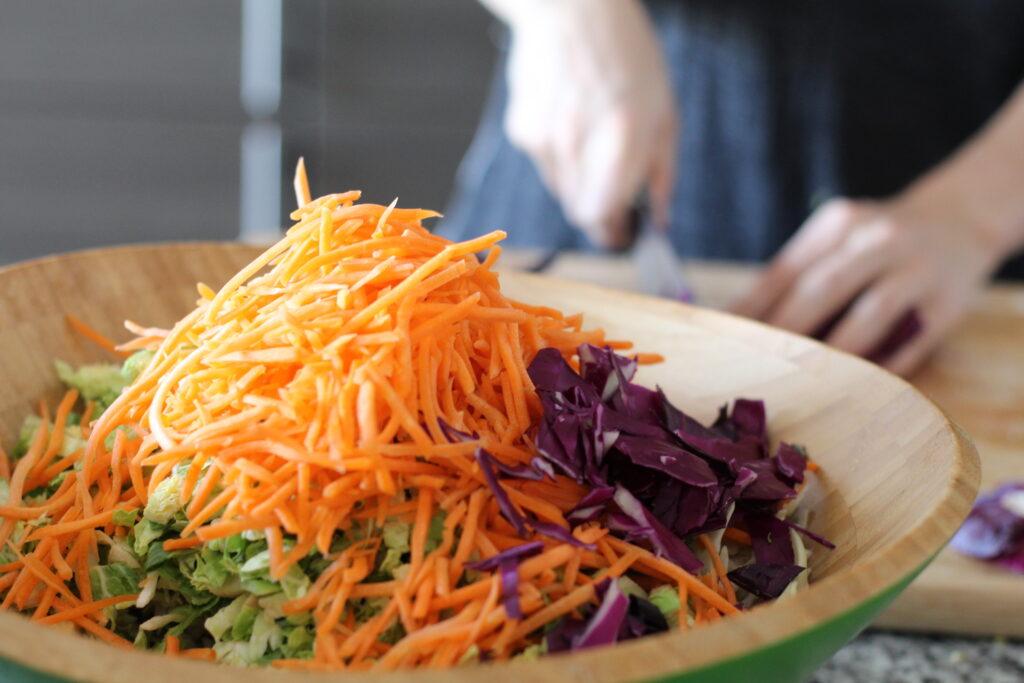 Shredded crucifer salad
