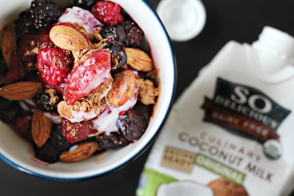 Berry and nut cream