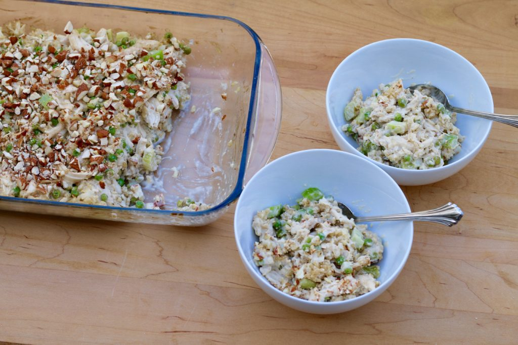 Beingbrigid green pea and chicken casserole