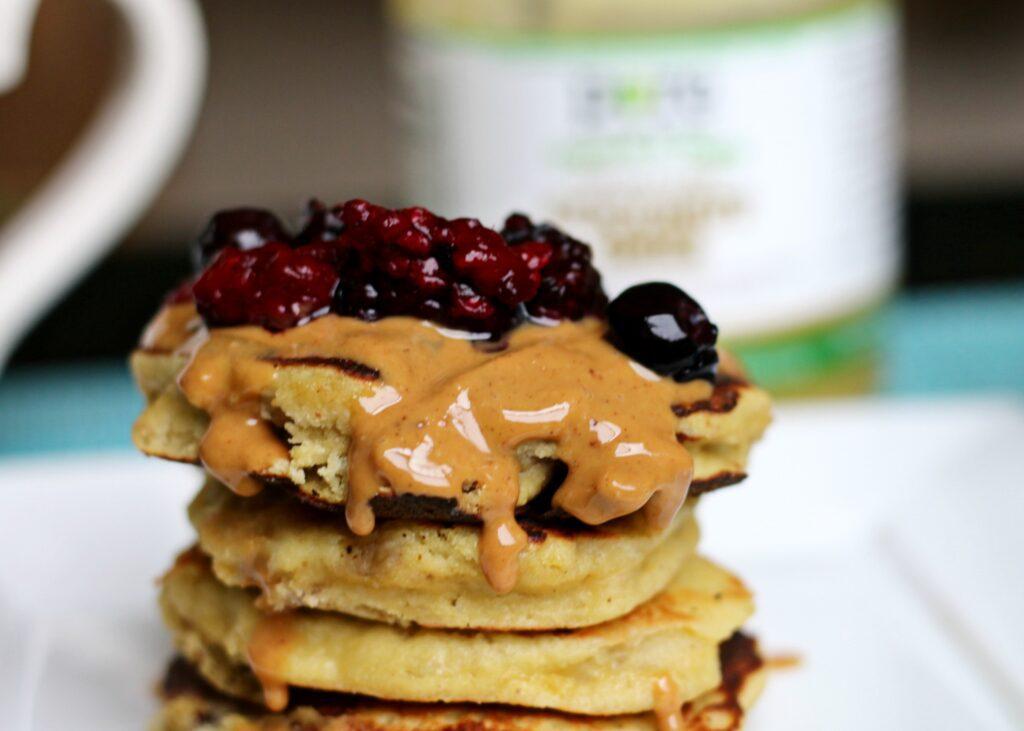 PB&J Paleo Pancakes from www.beingbrigid.com