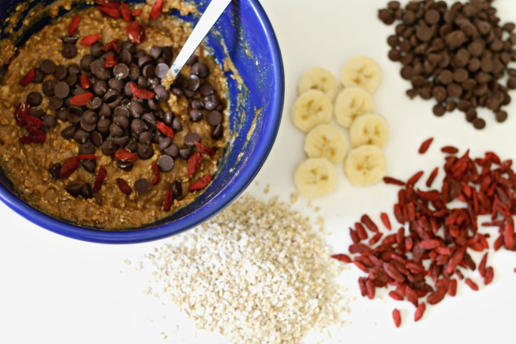 Chocolate chip goji berry gluten-free muffins from beingbrigid
