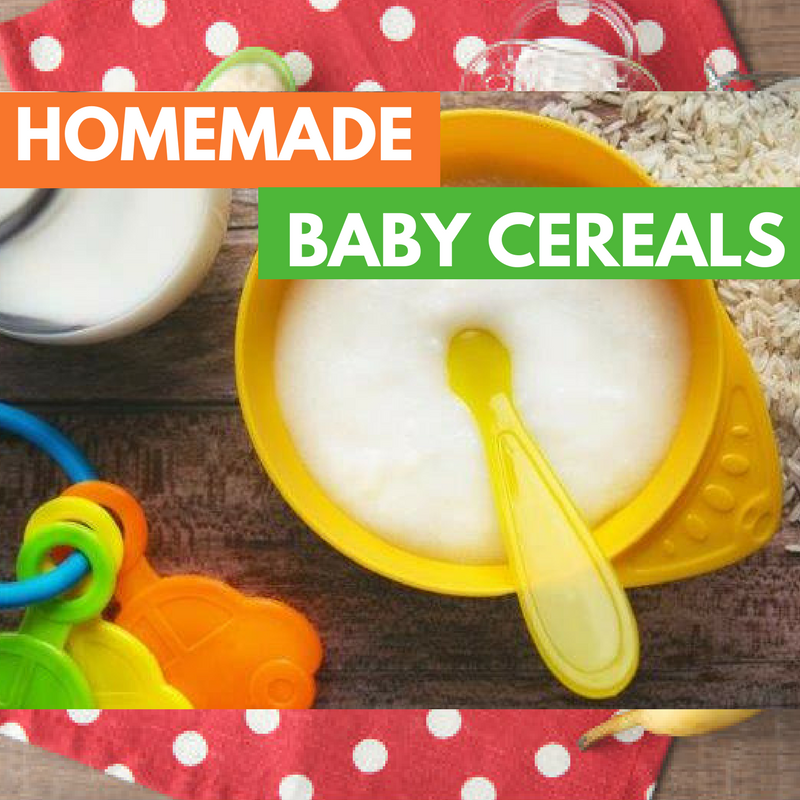 homemade cereals for baby