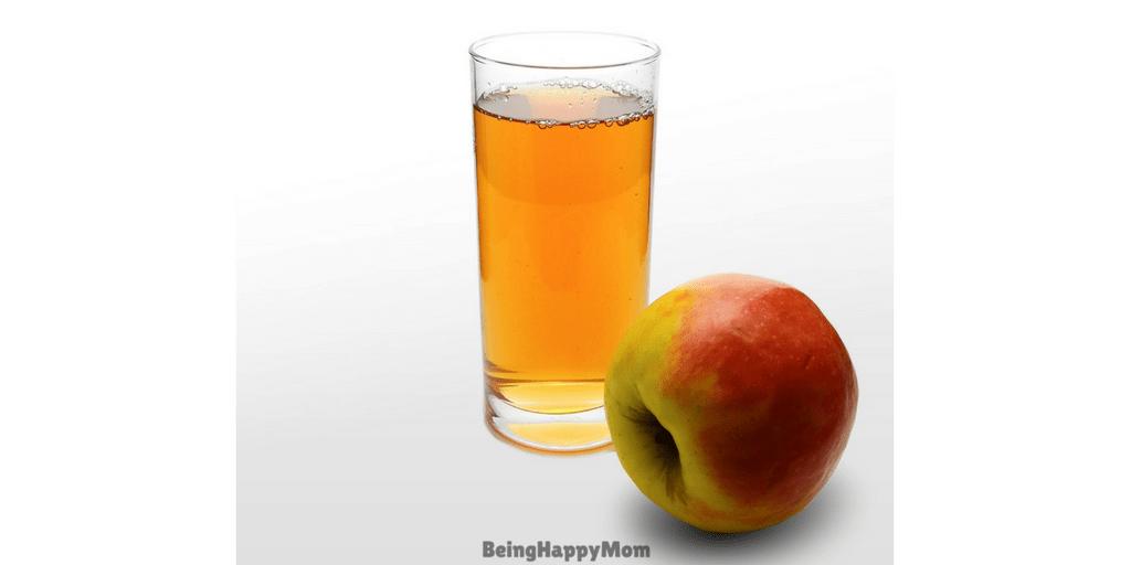 apple juice in constipation in kids