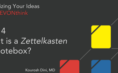 Organizing Your Ideas with DEVONthink Series (4 of 6) – What is a Zettelkasten or Note-Box?