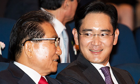 Samsung heir attends key group event