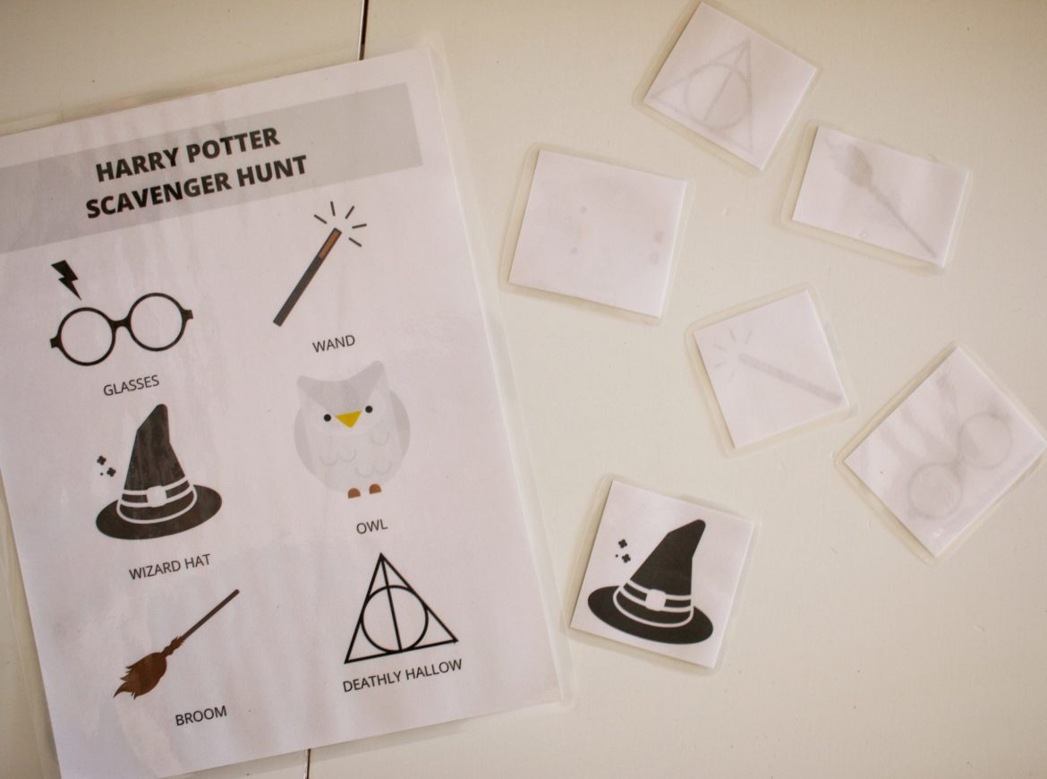 Wizarding World Scavenger Hunt Amp Memory Game Printable