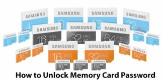 How to Unlock Memory Card Password