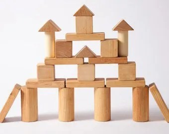 You could use wooden building blocks