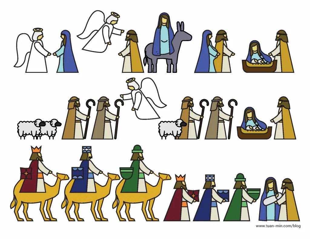 Printable Nativity Advent Calendar Page 2