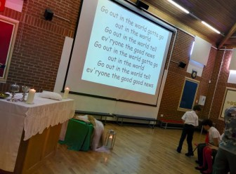 Beautiful mass prepared and led by year 6 with FR John