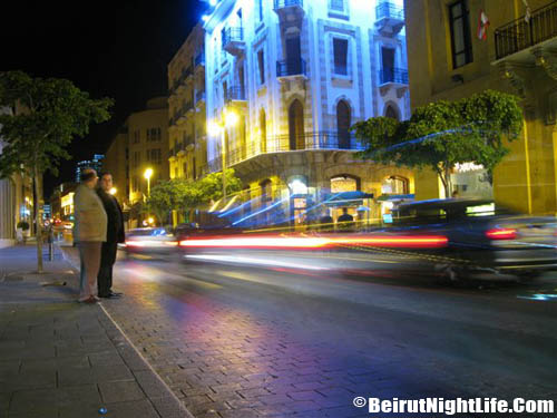 beirut streets by night