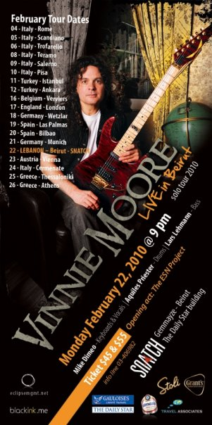 Vinnie Moore Live in Lebanon!