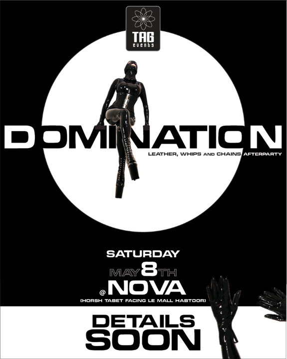 "DOMINATION ""leather, whips and chains after party"""
