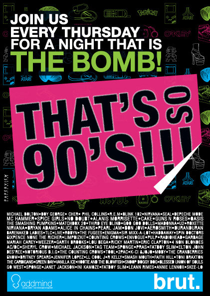 The 90's night at Brut!!