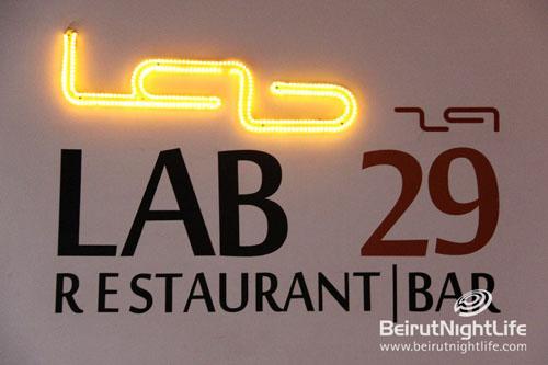 LAB 29 Restaurant/ Bar Gemmayzeh- Beirut