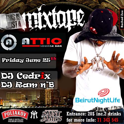 Mixtape Rn'B night at ATTIC lounge bar- Monot