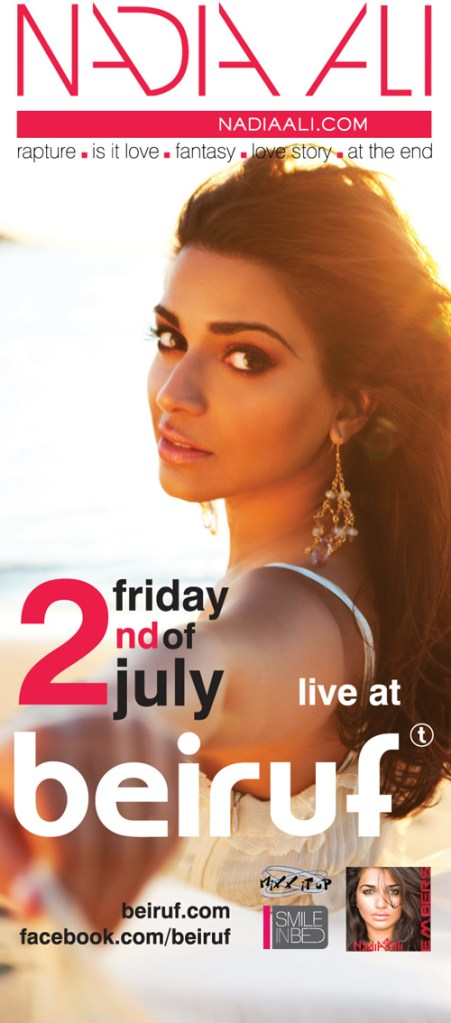 Nadia Ali at Beiruf Beirut July 2nd