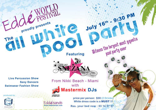 The All White Pool Party at Eddé Sands
