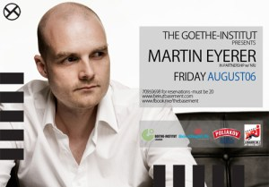 The Goethe – Institut pres. Martin Eyerer (Germany) at The Basement