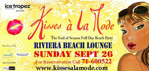 """Kisses A La Mode"" at Riviera Beach Lounge on Sept. 26th"