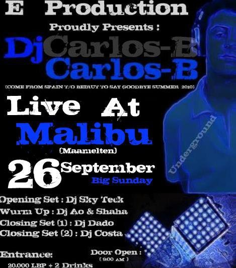 DJ Carlos-B Live At Malibu (GoodBye Summer)