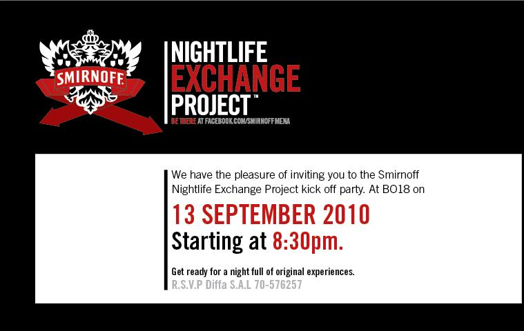 Smirnoff NightLife Exchange Project