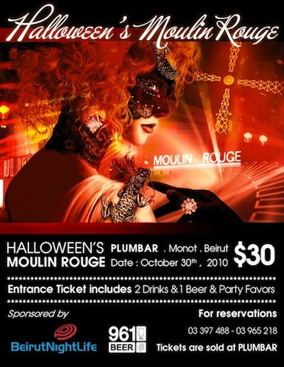 Halloween's Moulin Rouge at Plumbar TONIGHT!!