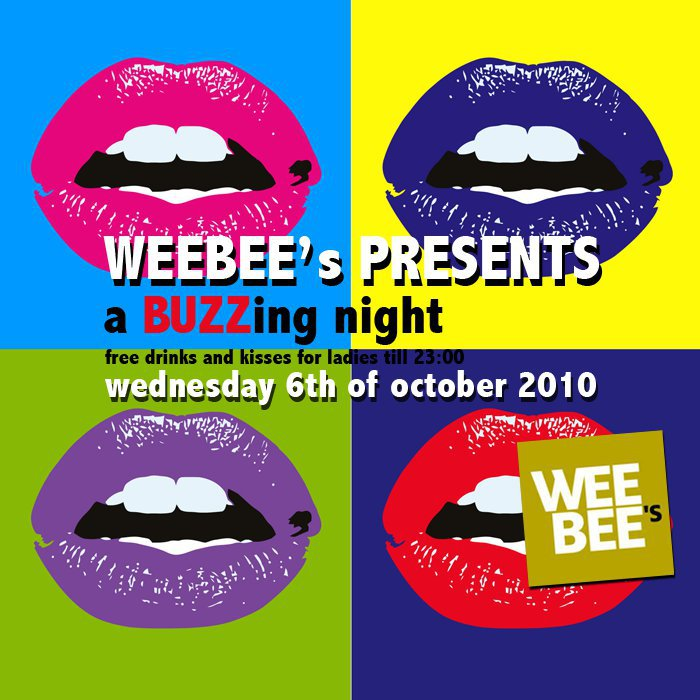 ladies nights tilll 23:00 at WEEBEE's