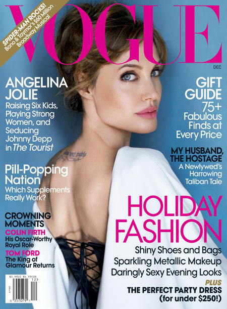 Angelina Jolie NOT Sexy In Vogue US December 2010?