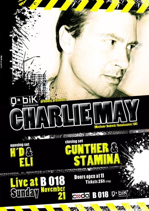 CHARLIE MAY – Live at B 018 (Q.Bik ent event)