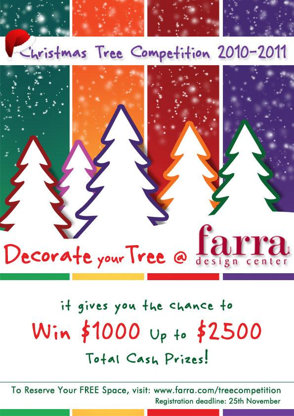 Christmas Tree Competition At Farra Design Center