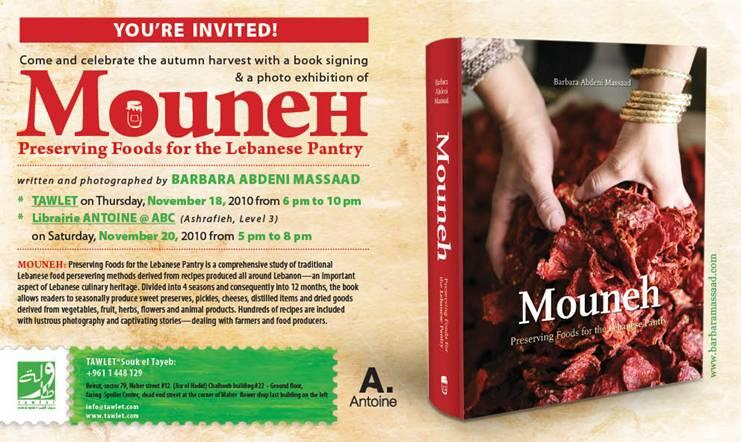 Mouneh: Preserving foods for the Lebanese Pantry Book Signing