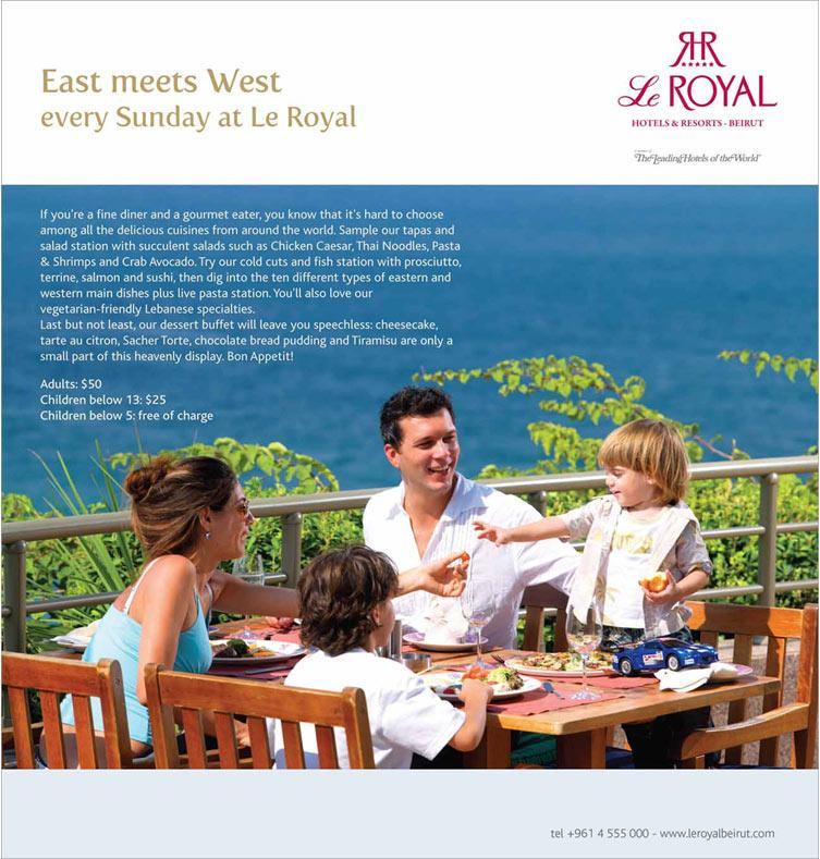 East Meets West every Sunday at Le Royal