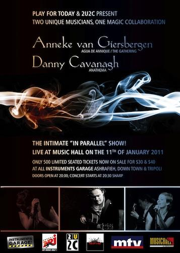 Danny Cavanagh And Anneke Van Giersbergen In Parallel Accoustic Tour Live At Music Hall