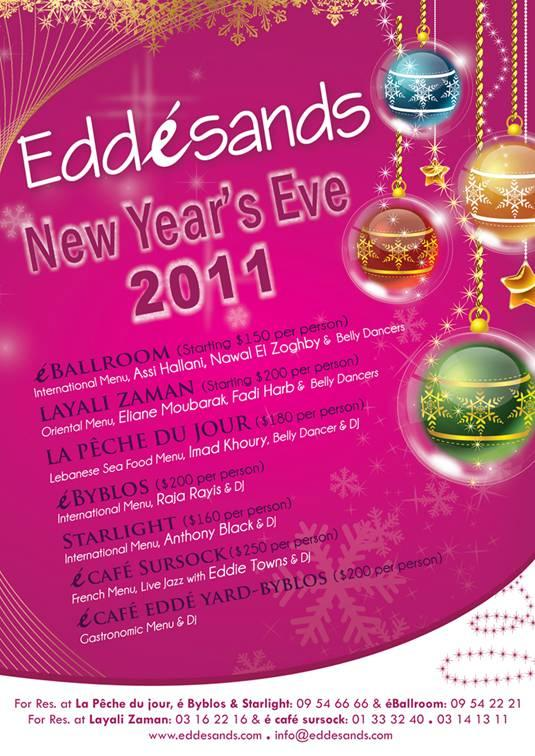 Celebrate New Year's Eve At Edde Sands
