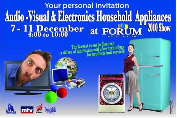 Audio-Visual And Electronics Household Appliances 2010 Show At Forum