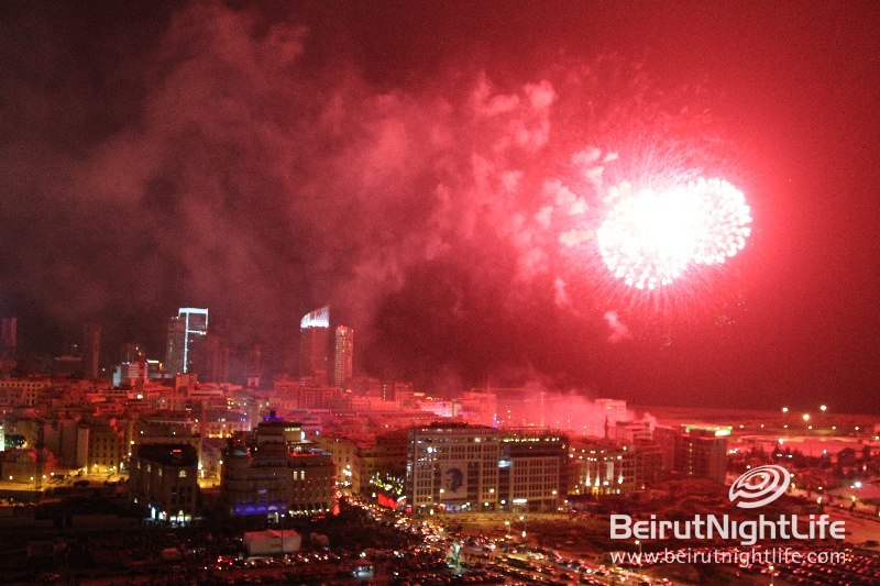 Fireworks Set Beirut Skyline Alight on NYE 2011
