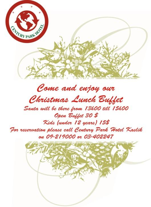 Christmas Lunch Buffet At Century Park Hotel