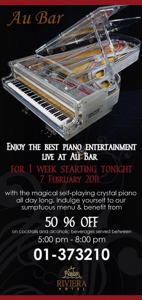 Self Playing Crystal Piano At Au Bar