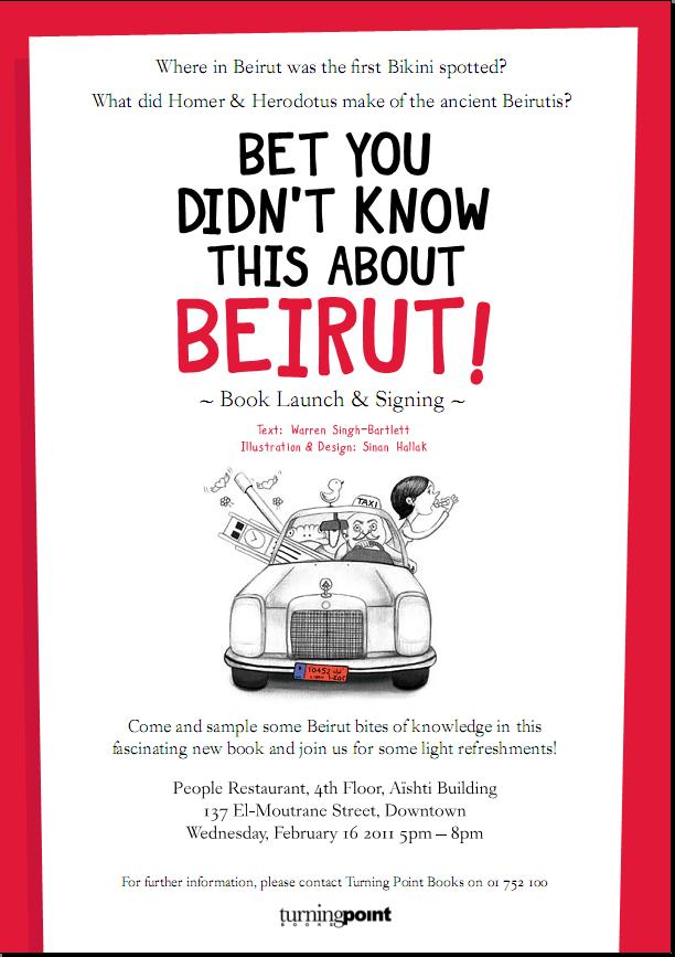 """Launching And Signing Book """"Bet you didn't know this about Beirut"""" At People"""