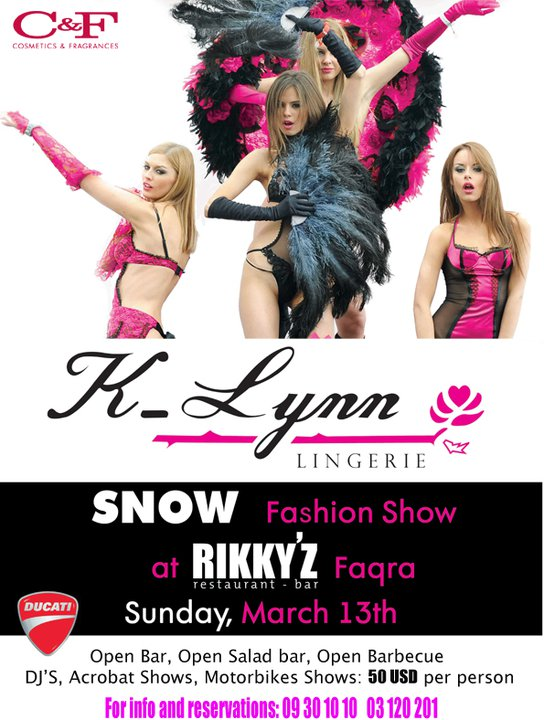 K-lynn Lingerie Snow Fashion Show At Rikky'z