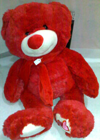 Red Teddy Bear La Wlooo!!!...Why I Hate Valentines Day!