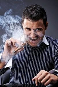 man smoking cigar 201x300 La Wlooo!!!...Lifestyles Of The CLASSE And The Cavemen!