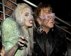 Lady Gaga Godmother to Son of Elton John