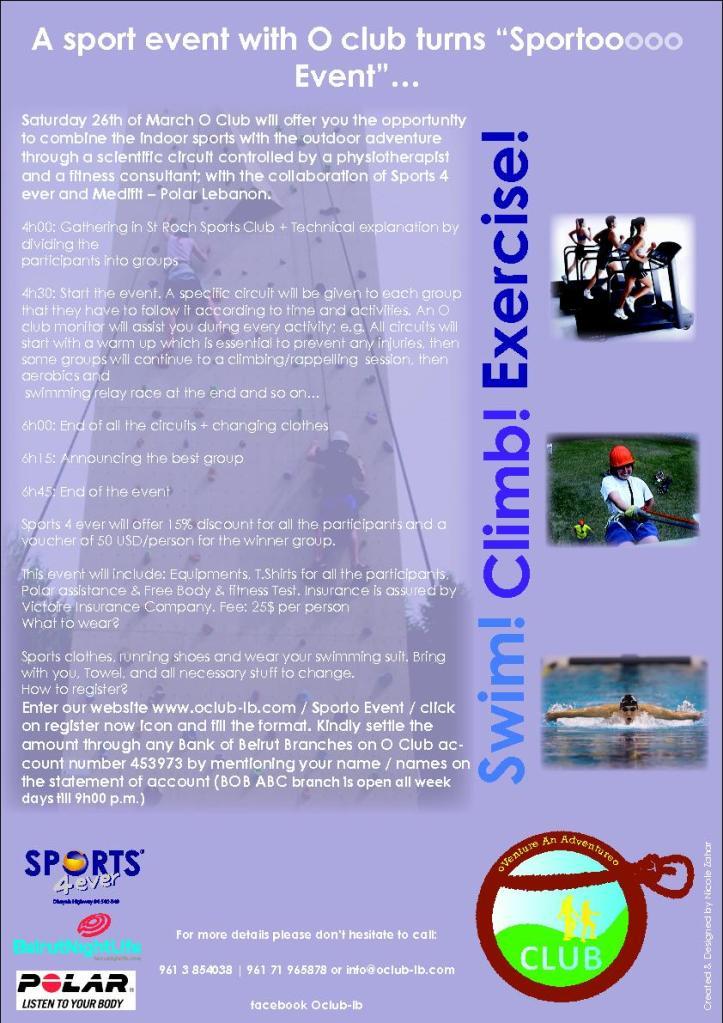 A Sport Event With O Club Turns Sportooo Event