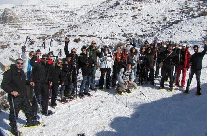 Snowshoeing At Tarshish